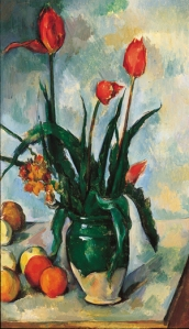 Tulips in a Vase, Paul Cezanne